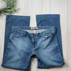 GAP plus sized bootcut long & lean jeans